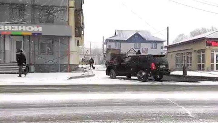 Укладка асфальта в снег в Долинске