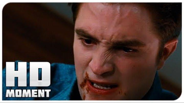 Эдвард пытается спасти Беллу - Сумерки. Сага. Рассвет: Часть 1 (2011) - Момент из фильма