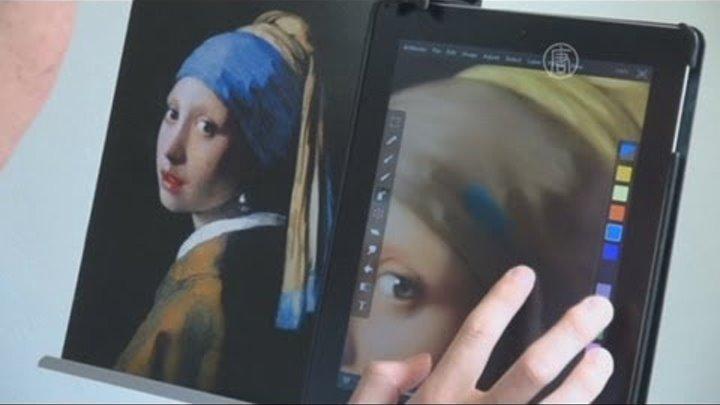 Японец рисует картины пальцами на айпаде (новости)