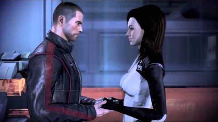 Миранда и Шепард любовные сцены (Mass Effect 3)