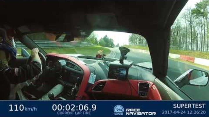 Corvette Z06 (C7) 7.13,90 min Nordschleife HOT LAP sport auto Supertest