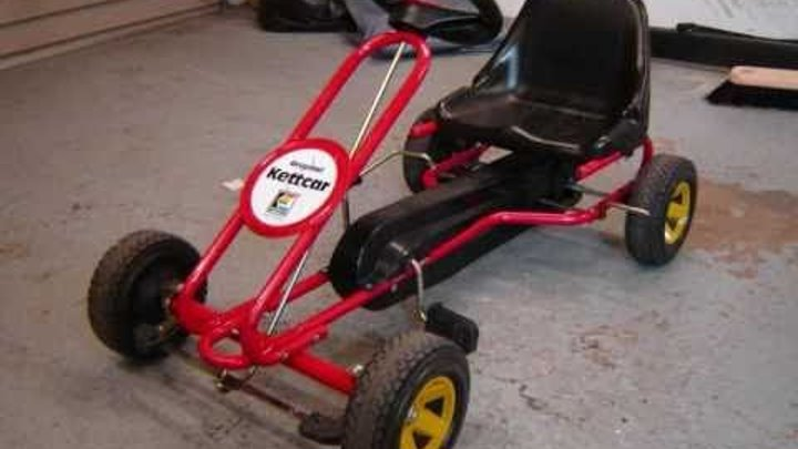 Homemade gokart Kids Kettcar Pedal Go-Kart With 49cc Mini Moto Engine  driftkart build