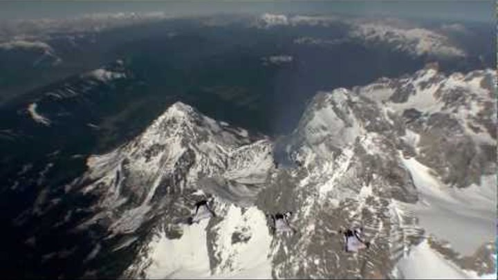 Wingsuits over Dachstein - Red Bull Skydive Team
