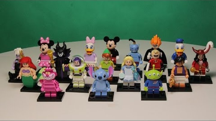LEGO MINIFIGURES DISNEY ALL SERIES 71012 / ЛЕГО МИНИФИГУРКИ ДИСНЕЙ ВСЯ СЕРИЯ.