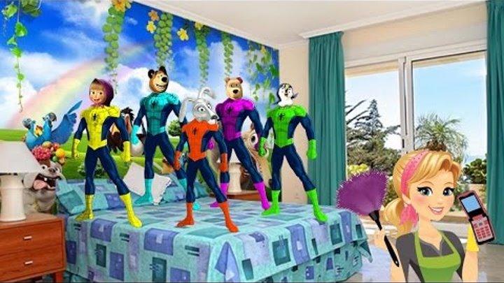 Маша и Медведь Новые Серии Маша Супер Герои Песня на русском Видео для детей - Человек паук