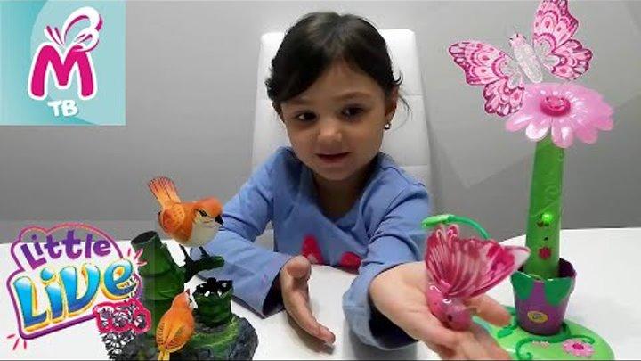 Little Live Pets Бабочка на цветке.