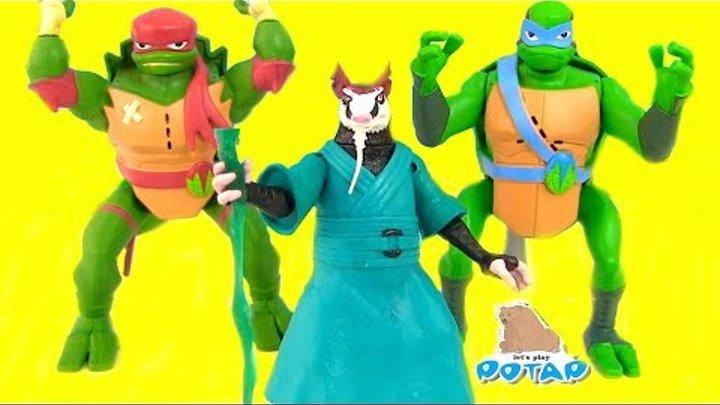 Черепашки Ниндзя Мультик TMNT Новое Поколение Черепашек - Акробатов! Игрушки для Мальчиков