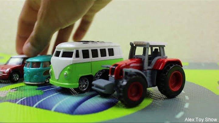 Машинки мультфильм - Мир машинок - 134 серия: Молния Маквин, Полицейская машина. Мультик для детей.