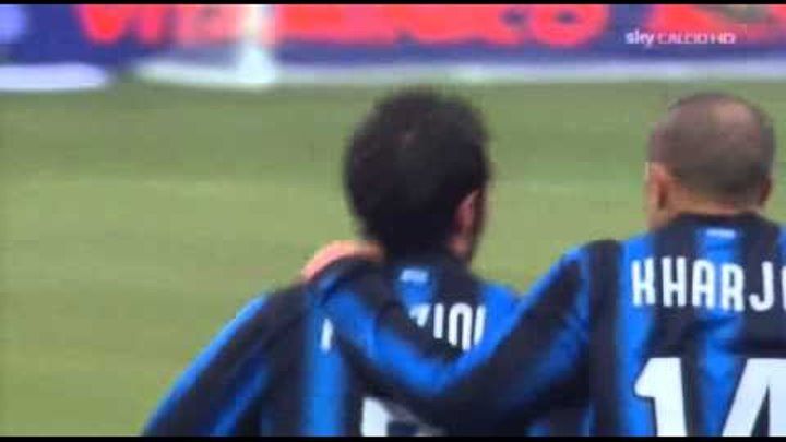 Inter Palermo 3 - 2 Highlights Ampia Sintesi SKY Sport HD 30-01-2011 Serie A PARTITA INCREDIBILE
