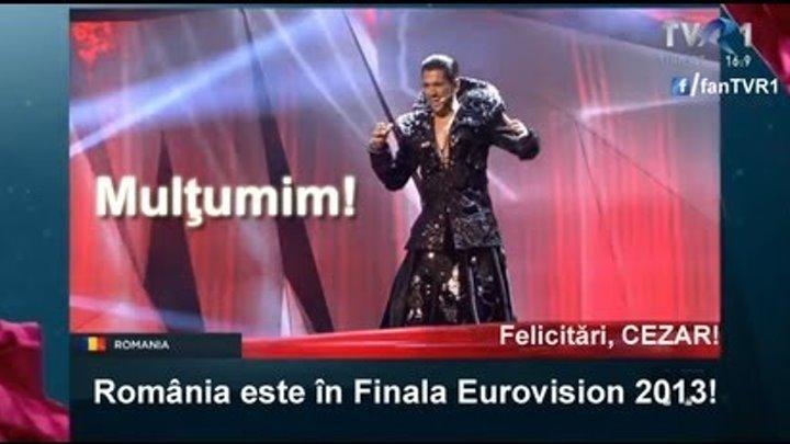 Cezar s-a calificat în finala Eurovision 2013