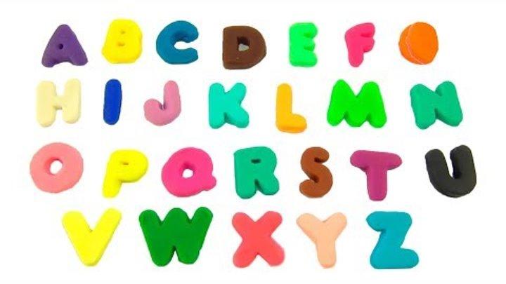 Учим английский Алфавит с пластилином Плей До Play Doh развивающее видео для детей #MrGeor
