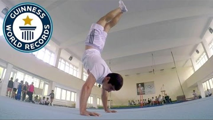 Most handstand push ups in one minute - Guinness World Records