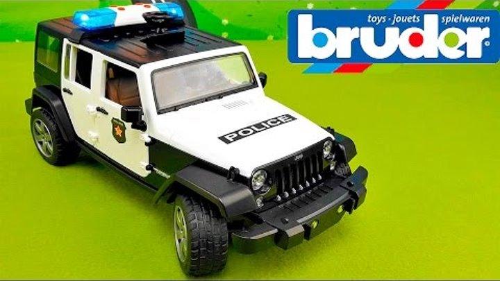 Полицейская машинка БРУДЕР ДЖИП - Обзор игрушки BRUDER Jeep Wrangler Unlimited Rubicon 02526