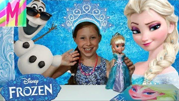 Кукла Эльза ютуб Холодное сердце Mila will show Frozen collection снежная принцесса
