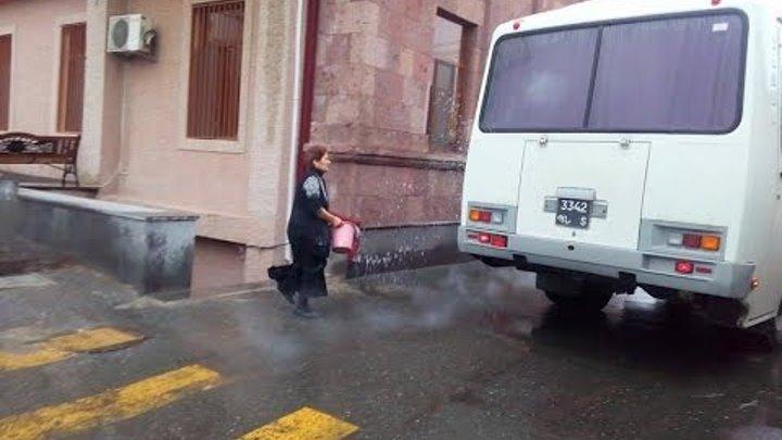 ԵԿՄ կամավորներն առավոտյան մեկնեցին Արցախ