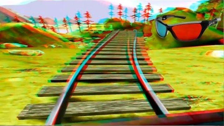 Best Anaglyph 3D Roller Coaster VIDEO 3D RED/CYAN Full HD 1080p