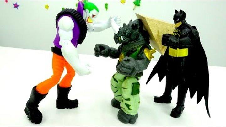 Мультики для мальчиков про супергероев. #Бэтмен и #Джокер разрушают город! Сон Черепашек Ниндзя