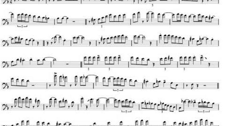 JJ Johnson 'A Night in Tunisia' Trombone Solo Transcription