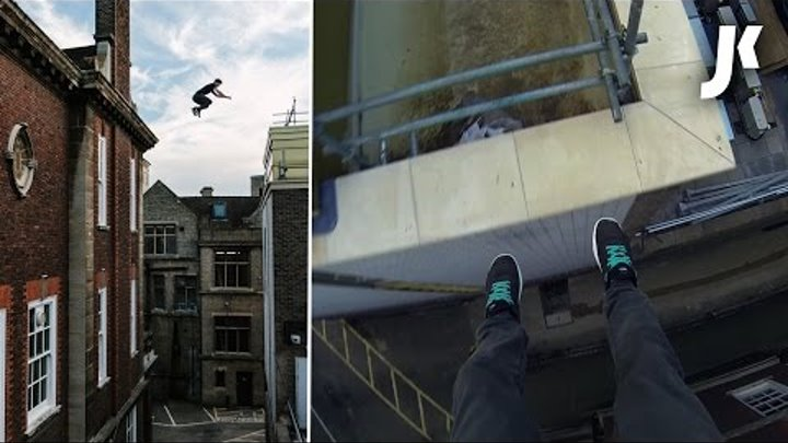 Parkour on the rooftops of Cambridge | James Kingston: POV Adventures |