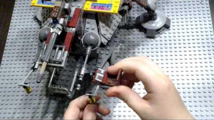 Лего звёздные войны 75157 шагающий штурмовой вездеход AT-TE капитана Рекса