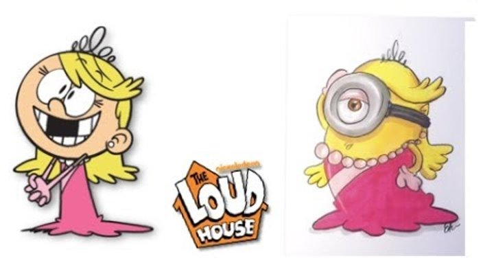 The Loud House Characters as MINIONS