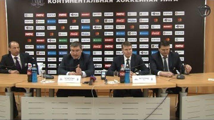 Пресс-конференция после третьего матча серии «Салават Юлаев» vs «Трактор»