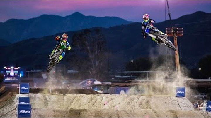 1v1 MX Racing on an Unwound Supercross Track   Red Bull Straight Rhythm 2016