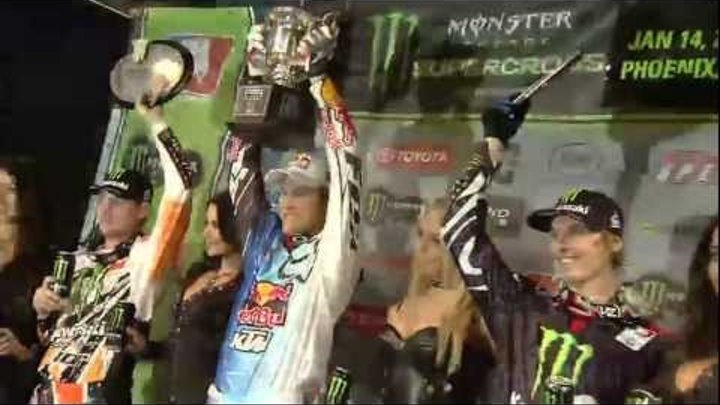Supercross LIVE! 2012 - And On the Podium Tonight in Phoenix - Jake Weimer
