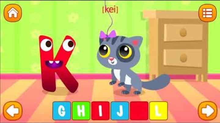 Английский алфавит. Interactive alphabet. English alphabet. ABC. Мультик для детей (0+)