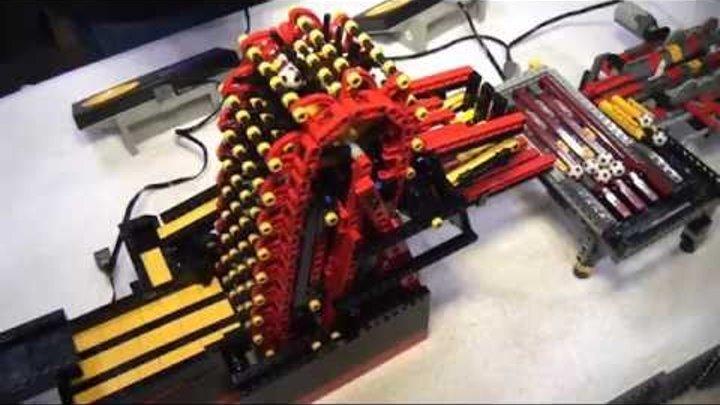 Record-breaking LEGO great ball contraption / Rube Goldberg - Brickworld Chicago 2014