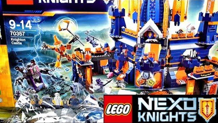 LEGO Nexo Knights 70357 Королевский замок Найтон Распаковка набора LEGO 2017 Knighton castle