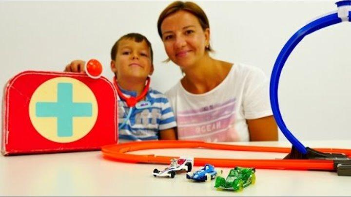 НОВИНКА! Видео и игрушки для детей от 3 лет: гоночная трасса ХОТ вилс. Игры с машинками