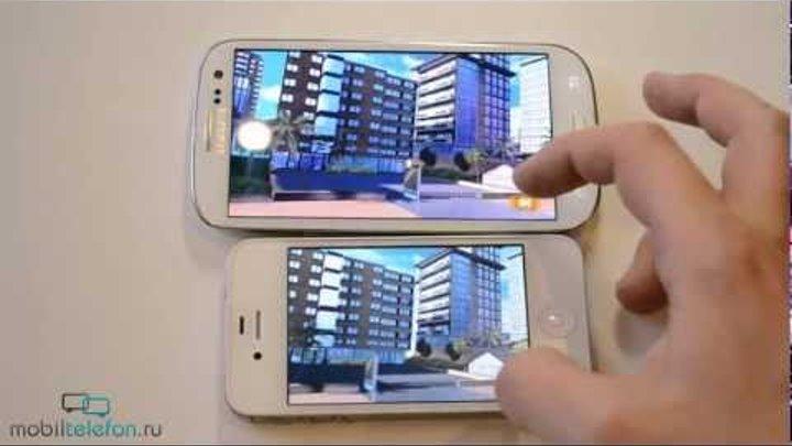 Samsung Galaxy S 3 vs iPhone 4S: скорость (speed comparison)