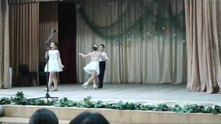 Antonela Gațapuc _ Copilarie, însoțită de perechea de dansatori Gațapuc Vasile & Balanuța Vlada