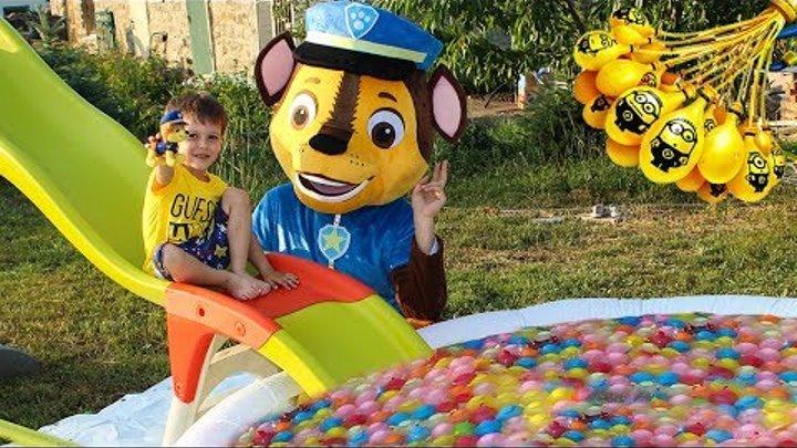 Щенячий патруль Игрушки Бассейн Bunch o Balloons Игры для детей на детской площадке Видео для детей