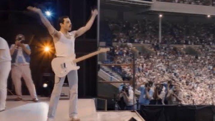 Bohemian Rhapsody - Live Aid, Crazy Little Thing Called Love Scene (Rami Malek, Freddie Mercury)