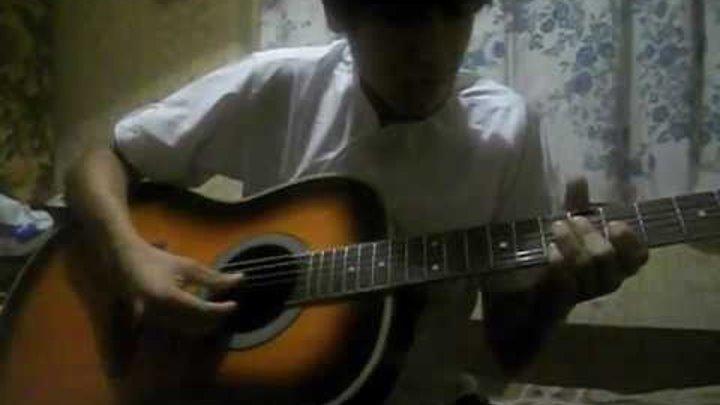 аниме!игра на гитаре(эльфийская песнь)