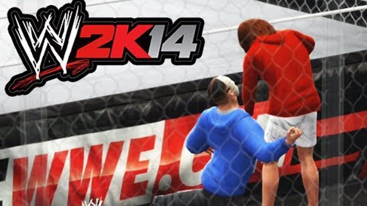 WWE 2K14 Lui Calibre vs H2O Delirious (Hell in a Cell Match)