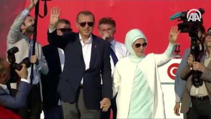 """Cumhurbaşkanı Erdoğan Yenikapı'daki """"Demokrasi ve Şehitler Mitingi""""nde konuştu"""