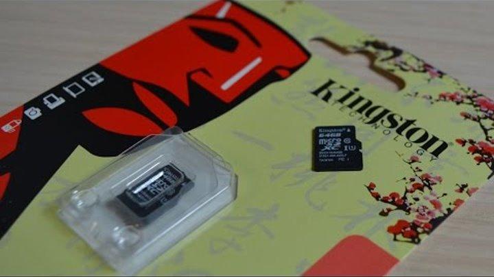 64 Гб за 13$ Китайская карта памяти Kingston Micro SD! Посылка + Тест!