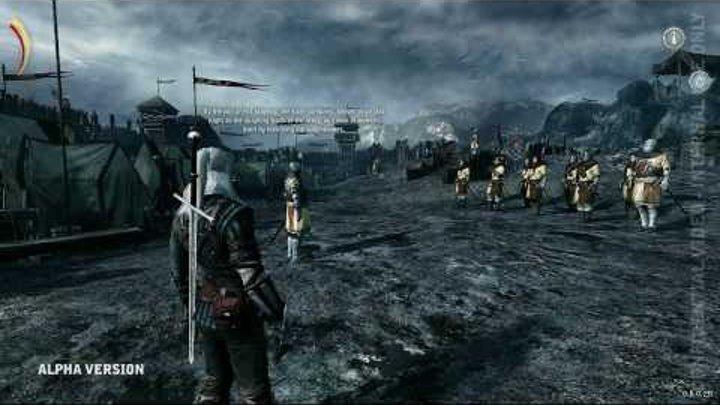 Ведьмак 2 - геймплей альфа версии