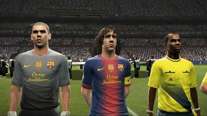 PES 2013 UEFA Champions League Final (FC Barcelona vs Real Madrid Gameplay)