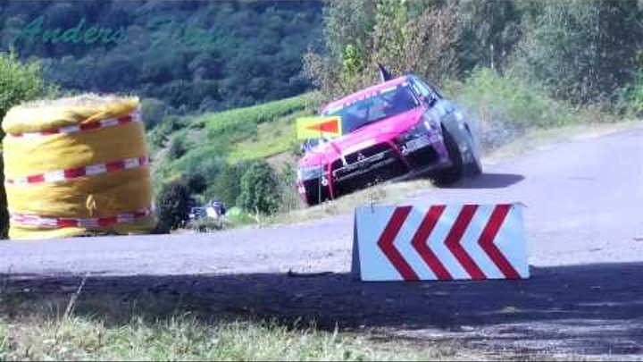 Rally Trier 2012 Ramona Karlsson catches fire, Petter Solberg near miss