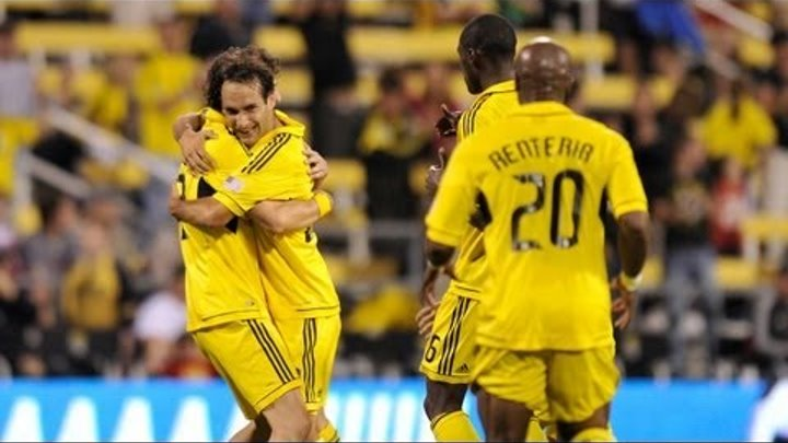 GOAL 20 yard header by Sebastian Miranda leads the Columbus Crew to victory over FC Dallas