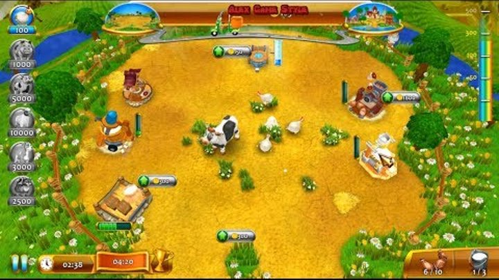 Farm Frenzy 4 (I'm Level 3) only GOLD Walkthrough Gameplay Веселая ферма 4  (Я Уровень 3) Золото