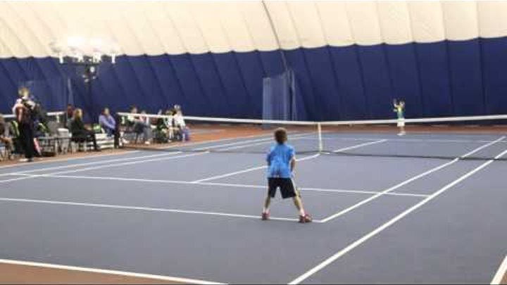 7 year old tennis player's match drop shots