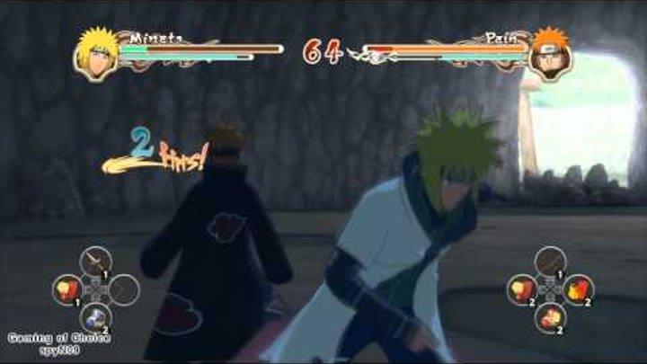 Naruto Shippuden Ultimate Ninja Storm 2 - 001 - Minato vs Pain [Only Melee]