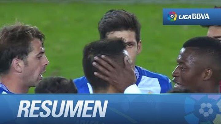 Resumen de RCD Espanyol (2-0) Málaga CF