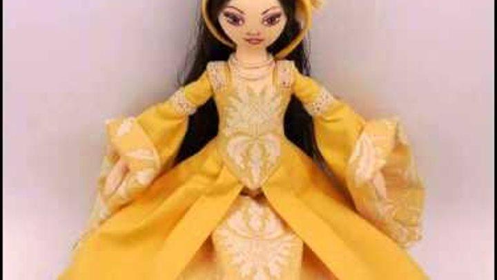 """видео-обзор текстильной куклы """"Анна Болейн"""""""