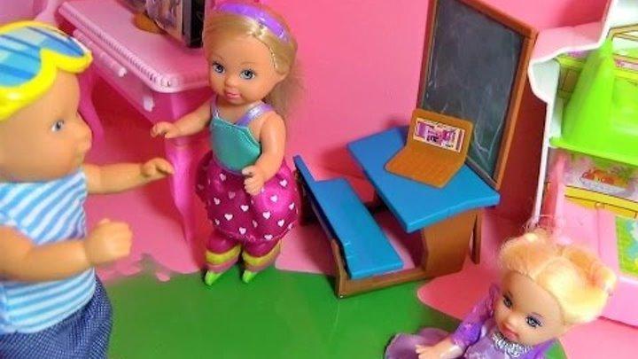 Мультик про кукол. Катя и Макс делают каток дома. Серия 2/Cartoon about dolls. Katya and Max